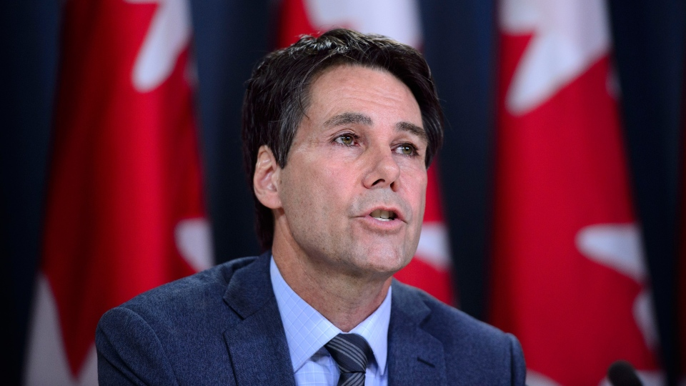 Dr. Eric Hoskins, Chair of the Advisory Council on the Implementation of National Pharmacare, speaks during a press conference at the National Press Theatre in Ottawa on Wednesday, June 12, 2019. THE CANADIAN PRESS/Sean Kilpatrick