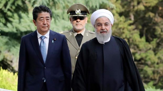 Shinzo Abe and Hassan Rouhani