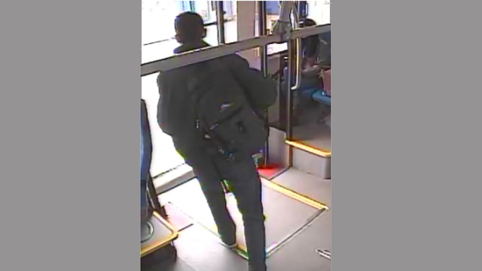 A suspect wanted in connection with a May 17, 2019 assault on a bus at the Promenade bus loop is pictured in this image distributed by York Regional Police. (Handout)