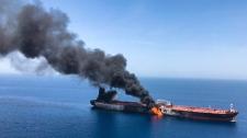 Tanker struck
