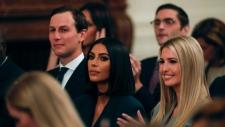 Jared Kushner and Ivanka Trump and Kim Kardashian