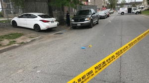 Police investigate a stabbing in the area of Old Weston Road and St. Clair Avenue Sunday June 16, 2019. (Phil Fraboni /CTV News Toronto)