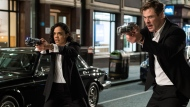 "This image released by Sony Pictures shows Tessa Thompson and Chris Hemsworth in a scene from Columbia Pictures' ""Men in Black: International."" (Giles Keyte/Sony/Columbia Pictures via AP)"