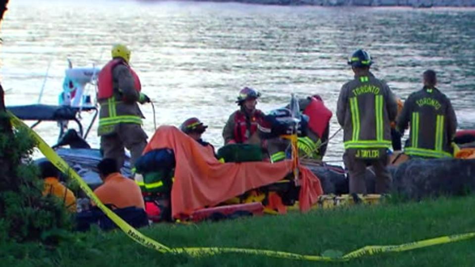 Firefighters respond to a jet ski crash at Bluffer's Park Marina Sunday June 6, 2019.
