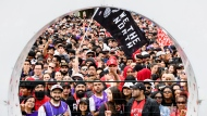 Thousands of fans gather to cheers on the Toronto Raptors during the team's championship parade in Toronto on Monday, June 17, 2019. THE CANADIAN PRESS/Nathan Denette