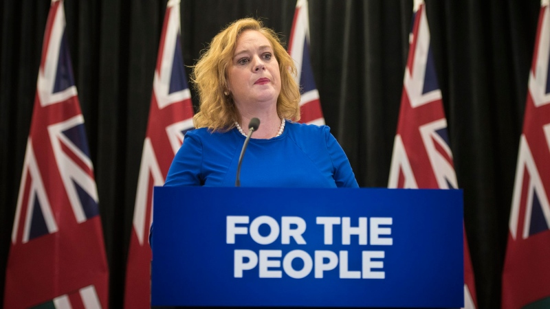Lisa MacLeod, Minister of Children, Community and Social Services, responds to a question on changes to Ontario's autism program at Queen's Park in Toronto on Thursday, March 21, 2019. THE CANADIAN PRESS/ Tijana Martin