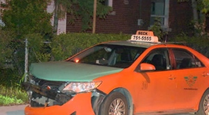The SIU is investigating after a suspect allegedly crashed a stolen cab and barricaded himself inside an East York home.