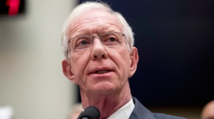 "Captain Chesley ""Sully"" Sullenberger speaks during a House Committee on Transportation and Infrastructure hearing on the status of the Boeing 737 MAX on Capitol Hill in Washington, Wednesday, June 19, 2019. (AP Photo/Andrew Harnik)"