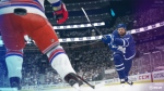 Toronto Maple Leafs centre Auston Matthews shoots the puck in in a screenshot from EA Sports NHL 20 game in this undated handout photo. THE CANADIAN PRESS/HO - EA Sports