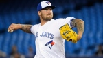 Toronto Blue Jays starting pitcher Sean Reid-Foley (54) works against the Baltimore Orioles during first inning American League baseball action in Toronto on Monday, April 1, 2019.  THE CANADIAN PRESS/Nathan Denette