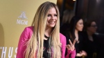 """Avril Lavigne arrives at the Los Angeles premiere of """"The Hustle"""" at ArcLight Hollywood on Wednesday, May 8, 2019. THE CANADIAN PRESS/AP, Jordan Strauss/Invision"""