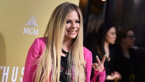"Avril Lavigne arrives at the Los Angeles premiere of ""The Hustle"" at ArcLight Hollywood on Wednesday, May 8, 2019. THE CANADIAN PRESS/AP, Jordan Strauss/Invision"