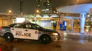 "Police are searching for ""more than one"" female suspect after a stabbing outside a GO bus station. (Michael Nguyen/ CP24)"