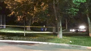 A stabbing in Weston sent one person to hospital with serious injuries, paramedics say. (Michael Nguyen/ CP24)