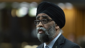 Minister of National Defence Minister Harjit Sajjan responds during Question Period in the House of Commons, in Ottawa on May 28, 2019. Canada will lead a NATO training mission in Iraq until November 2020 after the federal government approved an extension to the operation. New of the extension comes as Defence Minister Harjit Sajjan and counterparts from other NATO countries are in Brussels to discuss the fight against the Islamic State of Iraq and the Levant. THE CANADIAN PRESS/Adrian Wyld