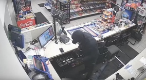 Toronto police have released video surveillance footage of a violent gas station robbery. (Toronto Police Service)