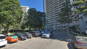 43 Thorncliffe Park Drive is shown in a Google Streetview image.