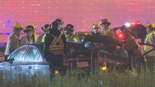 Twelve-year-old critically hurt in Mississauga highway pileup | CP24 com