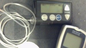 A Meditronic MiniMed Paradigm insulin pump is shown in a handout image on Wikipedia.