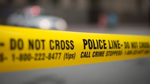A file photo of police tape. (THE CANADIAN PRESS/Graeme Roy)