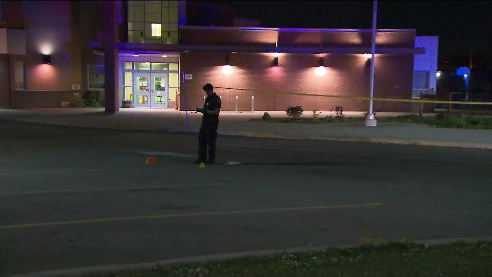 Police respond to a stabbing outside a school at Van Kirk Drive and Bramtrail Gate in Brampton Thursday July 11, 2019.