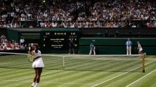 Serena serves