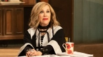 "This image released by Pop Tv shows Catherine O'Hara in a scene from ""Schitt's Creek."" On Tuesday, July 16, 2019, O'Hara was nominated for an Emmy for outstanding lead actress in a comedy series. (Pop TV via AP)"