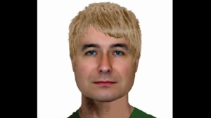 A suspect wanted in three sex assaults against small children in Kitchener, Ontario is shown in a composite sketch. (WRPS)