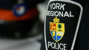 A York Regional Police badge is seen in this undated file image.