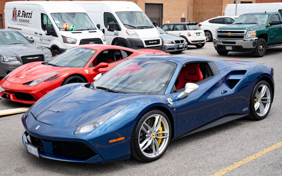 Investigators seized 23 high-end vehicles, including five Ferraris throughout the investigation. (York Regional Police)