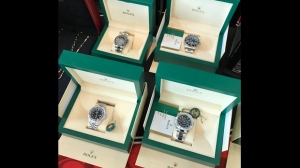 Rolex watches seized by York Regional Police in a major mafia bust are shown on July 18, 2019. (Matthew Reid/CP24)