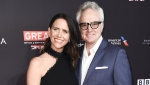 This Jan. 6, 2018 file photo shows Amy Landecker and Bradley Whitford at the 2018 BAFTA Los Angeles Awards Season Tea Party in Los Angeles. Landecker said, Thursday, July 18, 2019, she wed Whitford. The got married by political activist Ady Barkan at the courthouse in Santa Barbara. (Photo by Richard Shotwell/Invision/AP, File)