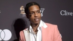 This Feb. 9, 2019 file photo shows A$AP Rocky at Pre-Grammy Gala And Salute To Industry Icons in Beverly Hills, Calif. The American rapper, whose name is Rakim Mayers, was ordered held by a Swedish court Friday, July 5, for two weeks in pre-trial detention while police investigate a fight on Sunday in central Stockholm. (Photo by Richard Shotwell/Invision/AP, File)