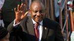 "In this file photo dated Saturday May 25, 2019, South African President Cyril Ramaphosa waves as he leaves after being sworn-in at Loftus Versfeld stadium in Pretoria, South Africa. A South African corruption watchdog on Friday July, 19, 2019, said President Cyril Ramaphosa ""deliberately misled"" Parliament about a campaign contribution, a setback for the leader who has vowed to address sprawling graft allegations that forced his predecessor from office and sparked national outrage. (AP Photo/Jerome Delay, FILE)"