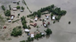 An aerial view of flooded Majuli, an island in River Brahmaputra, Assam, India, Tuesday, July 16, 2019. Monsoon flooding and landslides continued to cause havoc in South Asia on Tuesday, with authorities in northeastern India battling to provide relief to over 4 million people in Assam state, officials said. (AP Photo)