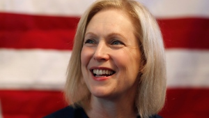 In this July 12, 2019, file photo, Democratic presidential candidate Sen. Kirsten Gillibrand, D-N.Y., speaks at a town hall meeting during a campaign stop in Bloomfield Hills, Mich. Plagued by anemic polling and fundraising, many 2020 Democratic presidential campaigns have fallen into a spiral of perceived struggles that become increasingly self-fulfilling. That includes Gillibrand's championing of women's rights, Washington Gov. Jay Inslee's focus on climate change and former Colorado Gov. John Hickenlooper's pitch as a principled moderate. (AP Photo/Carlos Osorio, File)