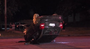 Police laid impaired driving charges following a crash in Parkwoods.