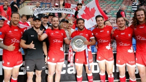 Toronto Wolfpack claimed the 2019 Betfred Championship League Leaders Shield with a 24-19 win over Widnes Vikings at Halton Stadium Sunday July 21, 2019. (Toronto Wolfpack /Handout)