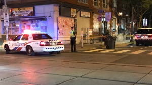One male is in critical but stable condition after a stabbing in Parkdale. (Michael Nguyen/ CP24)