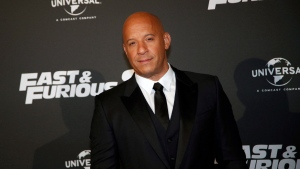 Actor Vin Diesel poses during the premiere of Fast and Furious 8, in Paris, Wednesday, April 5, 2017. (AP Photo/Thibault Camus)