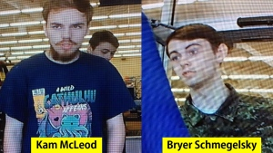 Kam McLeod, 19, and Bryer Schmegelsky, 18, are pictured in a combination handout photo released by RCMP in B.C. (Handout)