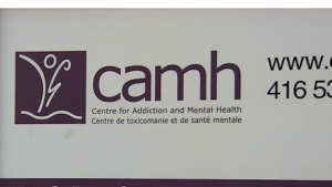A sign of the Centre for Addiction and Mental Health is pictured.