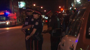 Officers respond to a shooting near Eglinton Avenue and Oakwood Avenue Tuesday July 23, 2019.