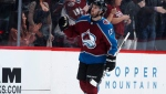 Colorado Avalanche center Alexander Kerfoot reacts after scoring a goal against the Edmonton Oilers in the second period of an NHL hockey game, Tuesday, April 2, 2019, in Denver. Alexander Kerfoot has an idea of what's coming. He grew up alongside Maple Leafs defenceman Morgan Rielly. THE CANADIAN PRESS/AP, David Zalubowski