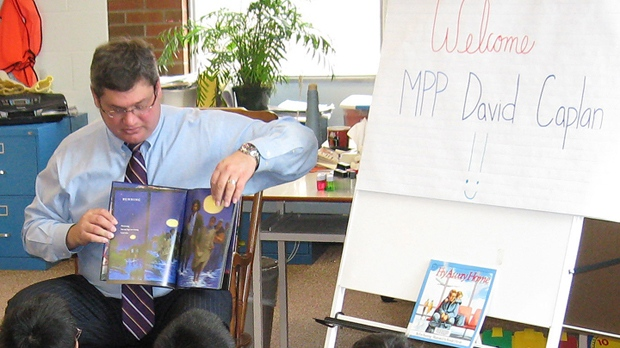Then MPP David Caplan reads to youngsters in an undated photo provided by the Ontario Liberal Party.