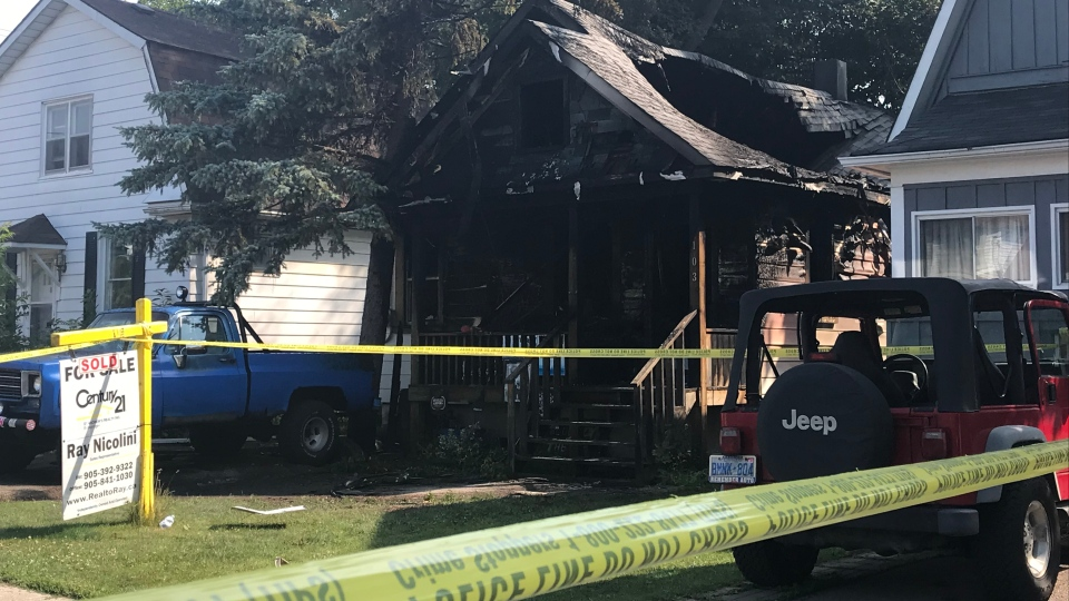 A home gutted by fire in Aurora is shown. Police have launched a suspicious death investigation after an individual was found deceased inside. (Brandon Gonez)
