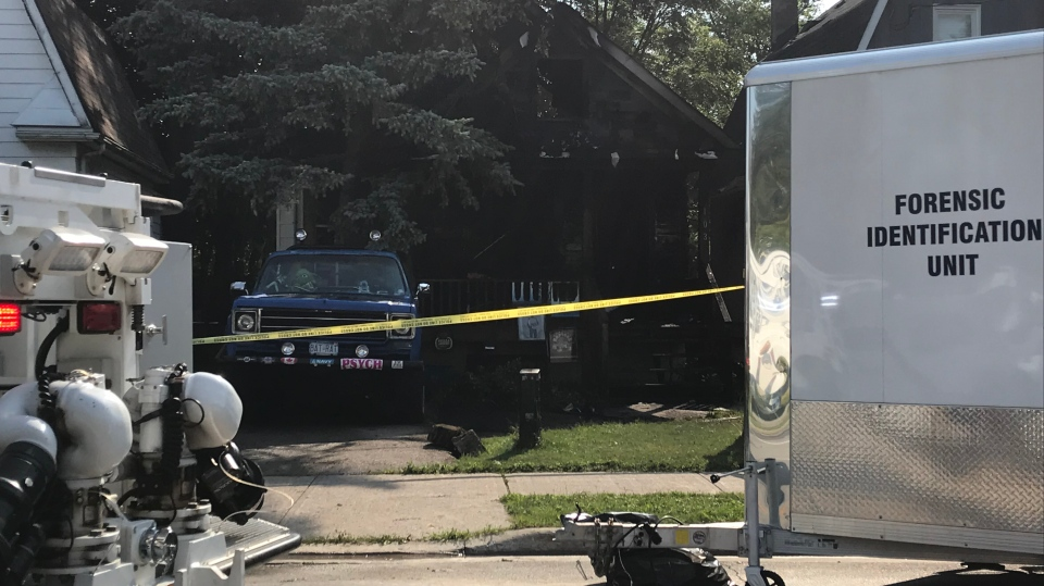 Police tape is shown at the scene of a suspicious death investigation in Aurora on Saturday morning. (Brandon Gonez)