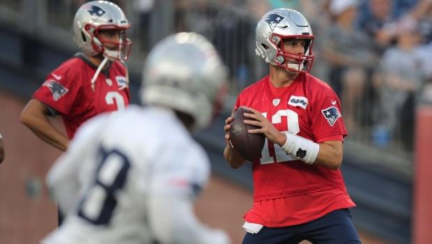 5db69314 Pats QB Brady enters 20th NFL training camp, now minus Gronk | CP24.com