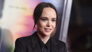 "Ellen Page arrives at the world premiere of ""Flatliners"" at The Theatre at Ace Hotel in Los Angeles on September 27, 2017. THE CANADIAN PRESS/AP, Invision - Richard Shotwell"