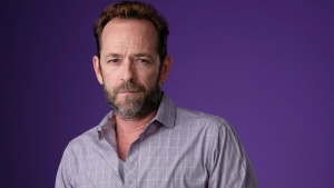 In this Aug. 6, 2018, file photo, Luke Perry poses for a portrait during the 2018 Television Critics Association Summer Press Tour in Beverly Hills, Calif. (Photo by Chris Pizzello/Invision/AP, File)